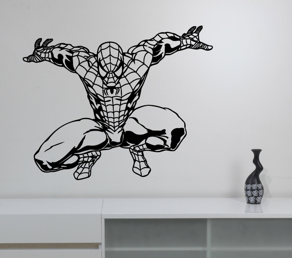 Compare Prices On Superhero Vinyl Decal Online ShoppingBuy Low - Superhero vinyl wall decals