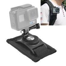 360 Derece Dönen Hızlı Serbest Bırakma Kayış Montaj omuz sırt çantası Dağı GoPro HERO, Xiaoyi ve Diğer aksiyon kameraları