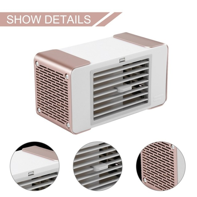 Practical Compact Personal USB Air Conditioner Air Cooler Fan Home Office Desk Air Cooling Bladeless Fan With Moist Humidifier Fans