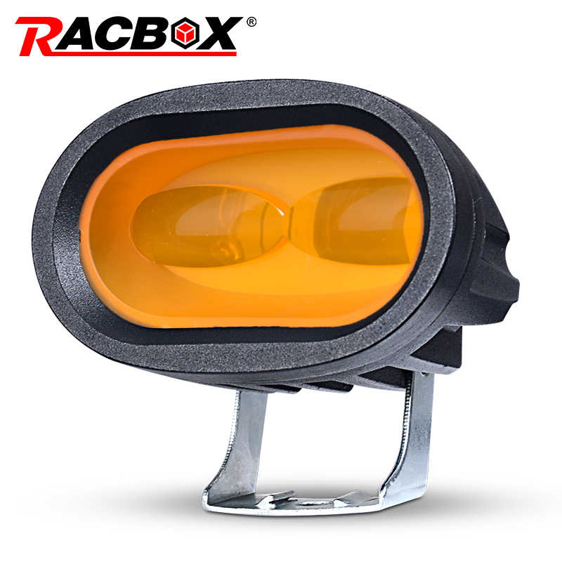 1Pcs 2Pcs New 20W 6D Yellow LED Work Light Worklight led offroad led off road car light car accessories