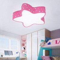 Creative star ceiling lights 85 265V 24W led ceiling lamp child room lights Blue/Pink bedroom decoration lights