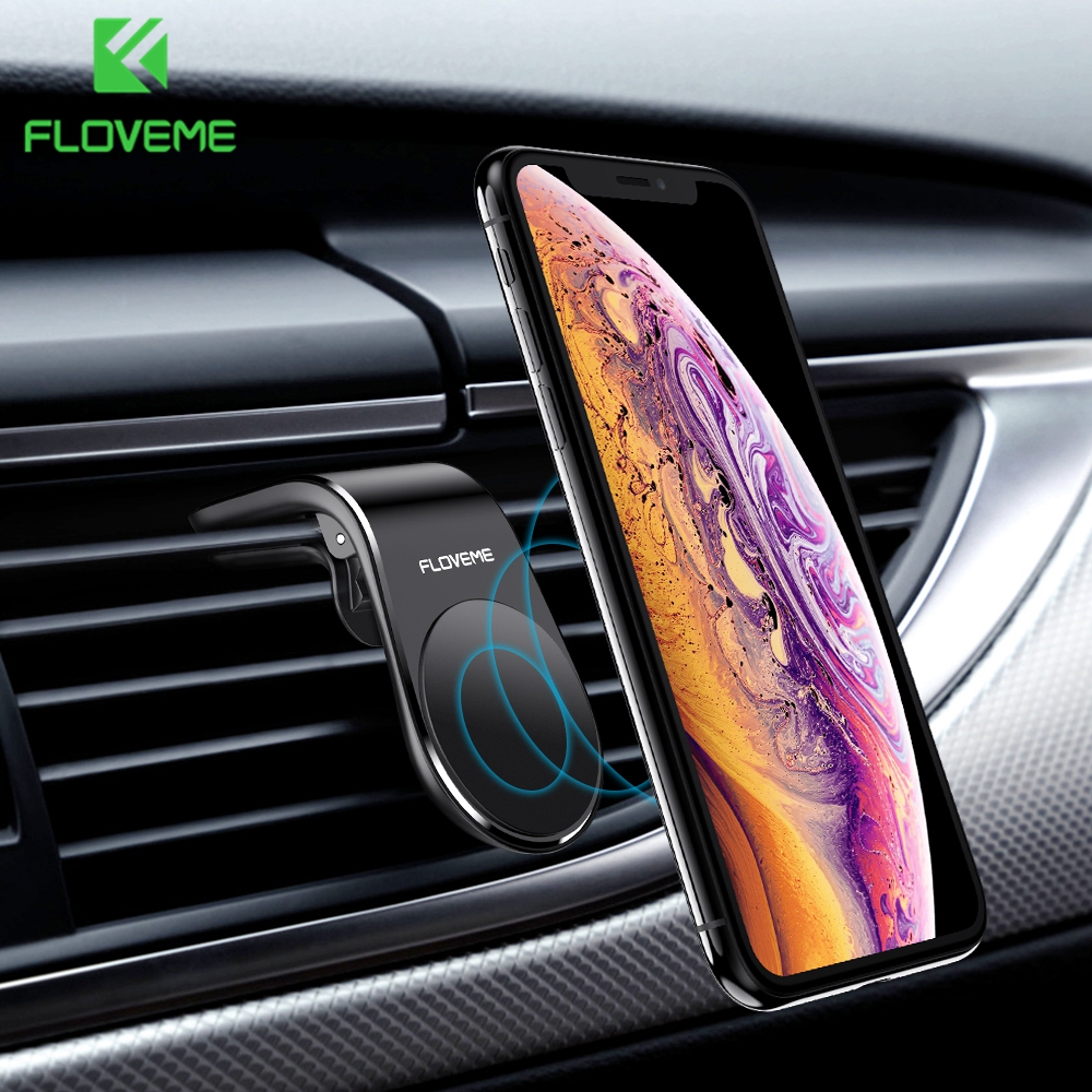 FLOVEME Magnetic Car Phone Holder L Shape Air Vent Mount Stand In Car Magnet GPS