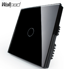 Touch 1 gang 1 way Black Pearl Crystal Glass Panel Switch, Wall Switch, UK standard, Digital Touch Light Switch VL-C301-62