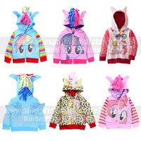 Girls Kids My Little Pony Wing Zip Jacket Coat Costume Child Toddler Twilight Sparkle Cosplay Cute