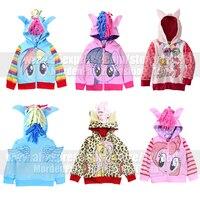 Girls Kids My Little Pony Wing Zip Jacket Coat Costume Child Toddler Twilight Sparkle Cosplay Cute