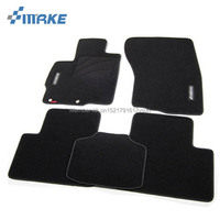 SmRKE For Mitsubishi ASX Car Floor Mats Carpets Customized Antiskid Hydrophil Fiber Front Rear Full Set