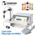 ZONESUN GFK-160 máquina de llenado de 5-3500ml bomba de Control Digital bebida leche Agua aceite botella de Perfume máquina de llenado de líquido