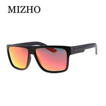 MIZHO Brand Anti-Reflective Hip Hop Square Polarized Sunglasses Men Fashion Plastic Woman Polaroid UVA Travel Oculos