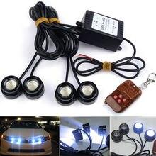 Супер яркий 4 x 3W 16 модель стробоскоп вспышка орлиный глаз светодиоды автомобильный светильник с беспроводным пультом дистанционного управления Водонепроницаемый DRL предупреждающий светильник белый
