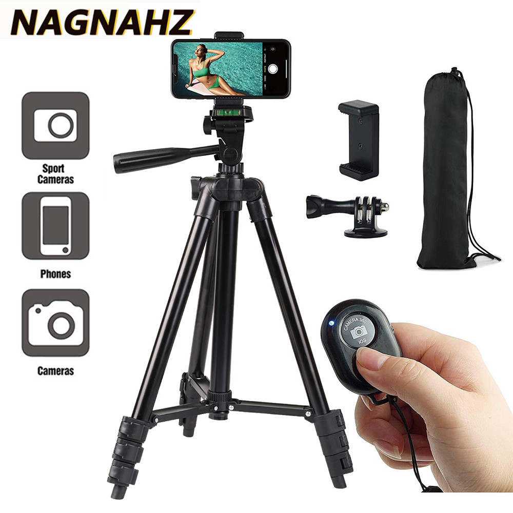 Portable Phone Tripod for iPhone Xiaomi HUAWEI Gopro Compact Video Camera Lightweight Travel Mobile Phone Stand Holder Tripode(China)