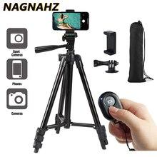 Tripé portátil para celular, para iphone, xiaomi, huawei, gopro, câmera de vídeo compacta, leve, suporte para celular, tripé