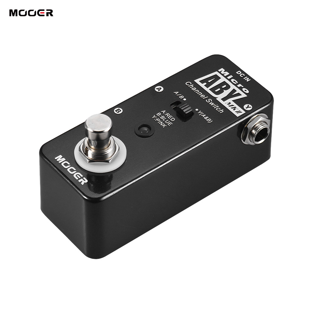NEW ARRIVAL MOOER ABY MKII Channel Switch Guitar Effect Pedal True Bypass Full Metal Shell