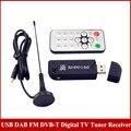 USB2.0 DAB FM DVB-T  Digital TV Tuner Receiver  RTL2832 R820T SDR RTL-SDR Upgrade Verion Dongle Stick IR Remote