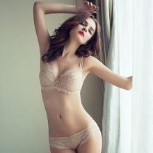 Adjustable thin cup lingerie set