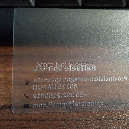 Super Sale Kunststoff Transparent Visitenkarte Mit Gold