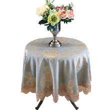 Round tablecloth cotton and linen small fresh table cloth fabric home European round square garden