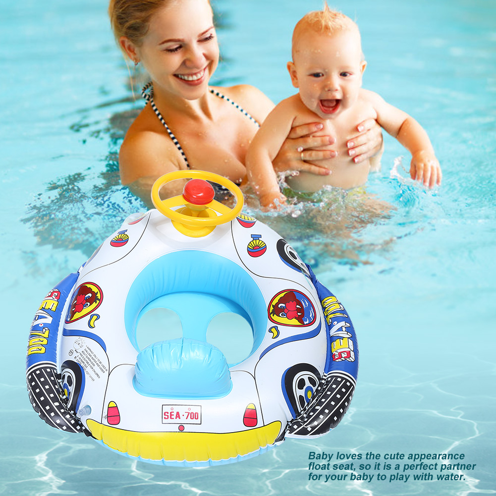 Inflatable Baby Kids Swimming Ring Summer Swimming Pool Swan Swim Float Water Fun Pool Toys Swim Ring Seat Boat Sport For Kids B