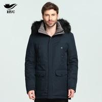 HYC Mens Long Overcoat Winter Coat Male Army Windbreaker Men Patchwork Waterproof Jacket Nylon Quilted Large