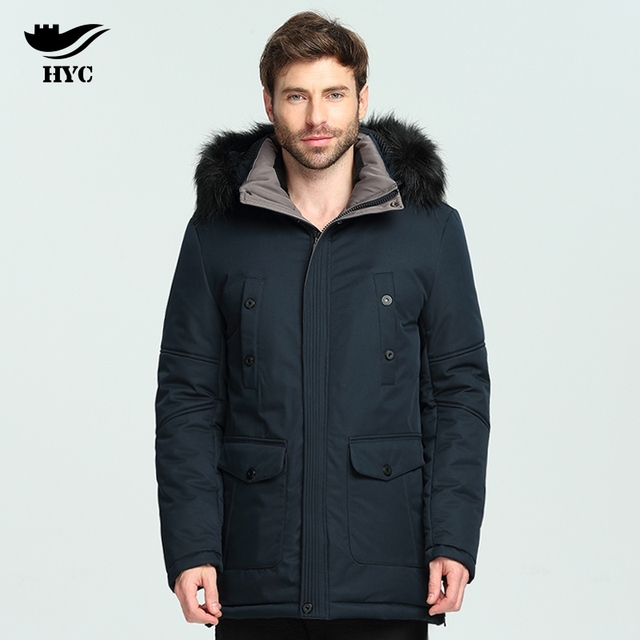 HAI YU CHENG Winter Jackets Men Long Parkas Overcoats Male Army ...