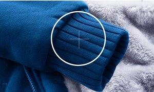 Image 5 - FOJAGANTO mężczyźni ciepły kardigan bluzy topy jesień zima mężczyzna dorywczo zagęścić jednolity kolor odzież męska bluza z kapturem bluza
