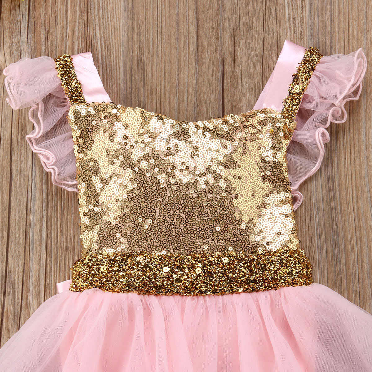 641bfe6003d ... Infant Girls Baby Sequin Bow Princess Dress Birthday Party Wedding  Romper Dress Summer Girl Party Vestidos ...