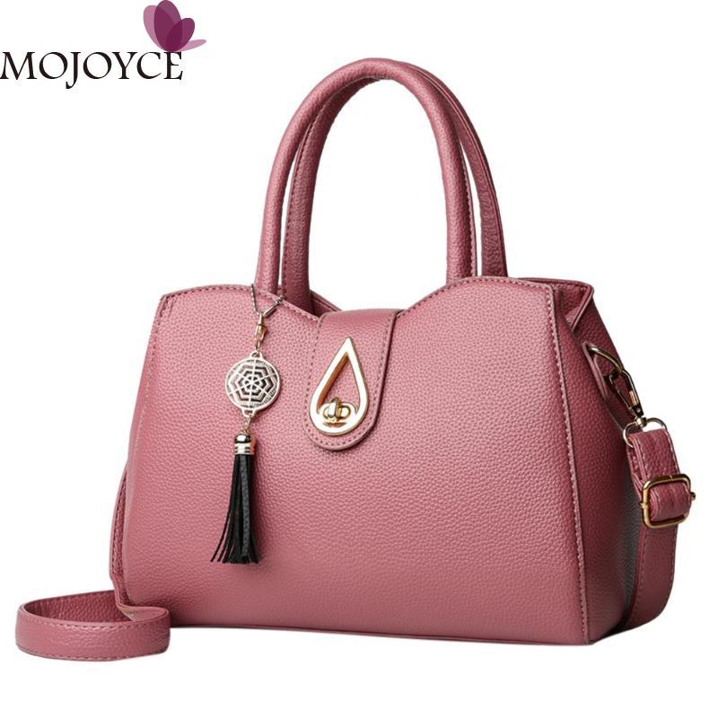 2018 Stylish Design Women Tassel Messenger Bag PU Leather Water Droplet Shoulder Bag Fashion Girls Travel Shopping Shell Tote