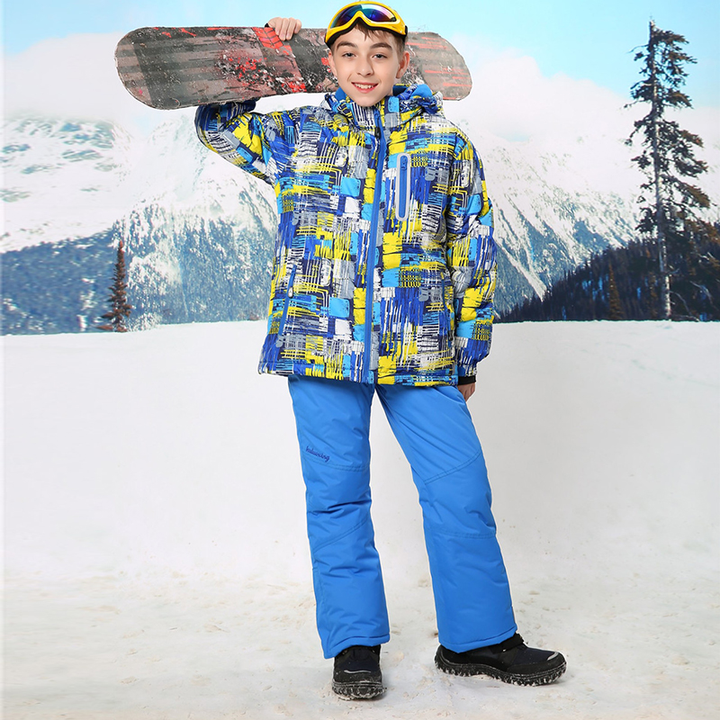 Waterproof Index 15000mm Warm Coat Ski Suit Windproof Baby Boys Jackets Kids Clothes Sets Children Outerwear For 3-16 Years Old waterproof index 15000mm warm coat ski suit windproof baby boys jackets kids clothes sets children outerwear for 3 16 years old