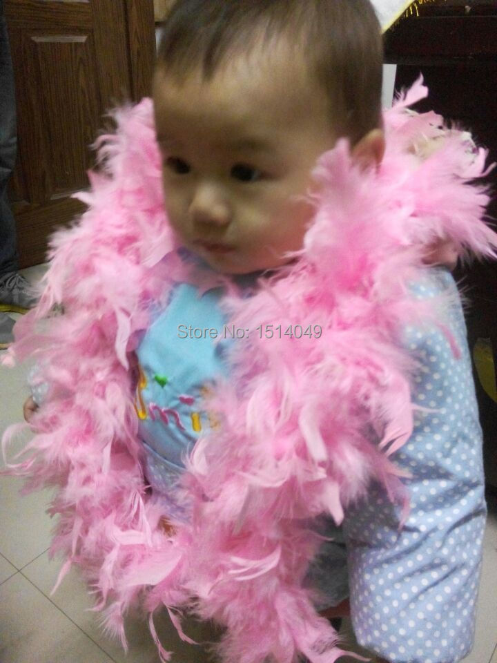 Free shipping wholesale 5pcs high quality Turkey feathers 2m long Feather boa Decorative pink
