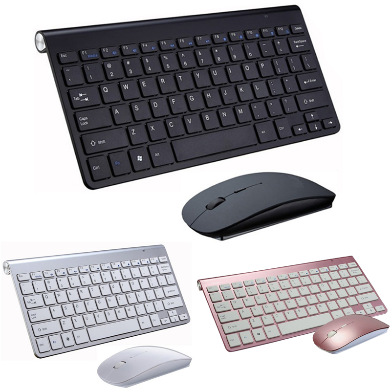 215f2f5f72f 2.4G Portable Mini Wireless Keyboard Mouse Ergonomic Computer Laptop  Keyboard and Mouse Set Combo For PC Mac Desktop Notebook TV