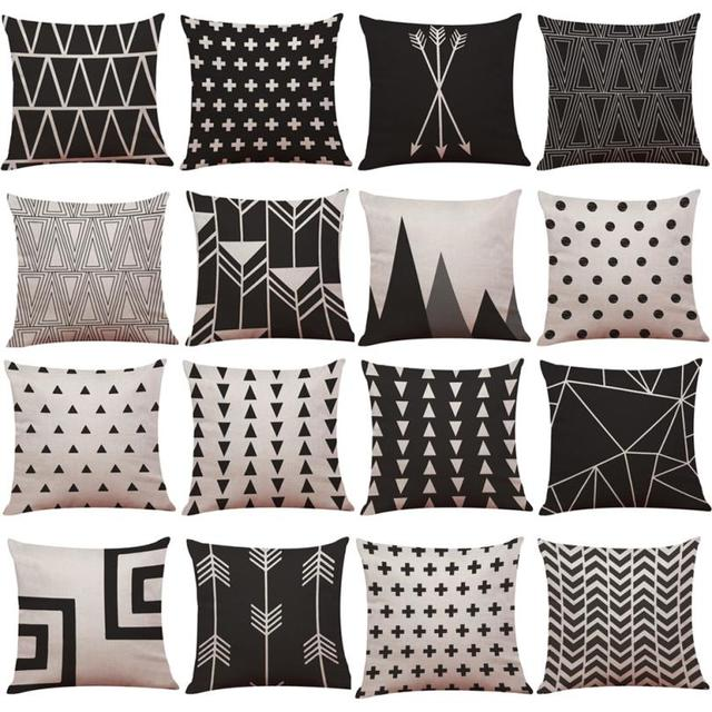 Di cotone di Tela Coperte e Plaid cuscino copre per divano geometrica federe per
