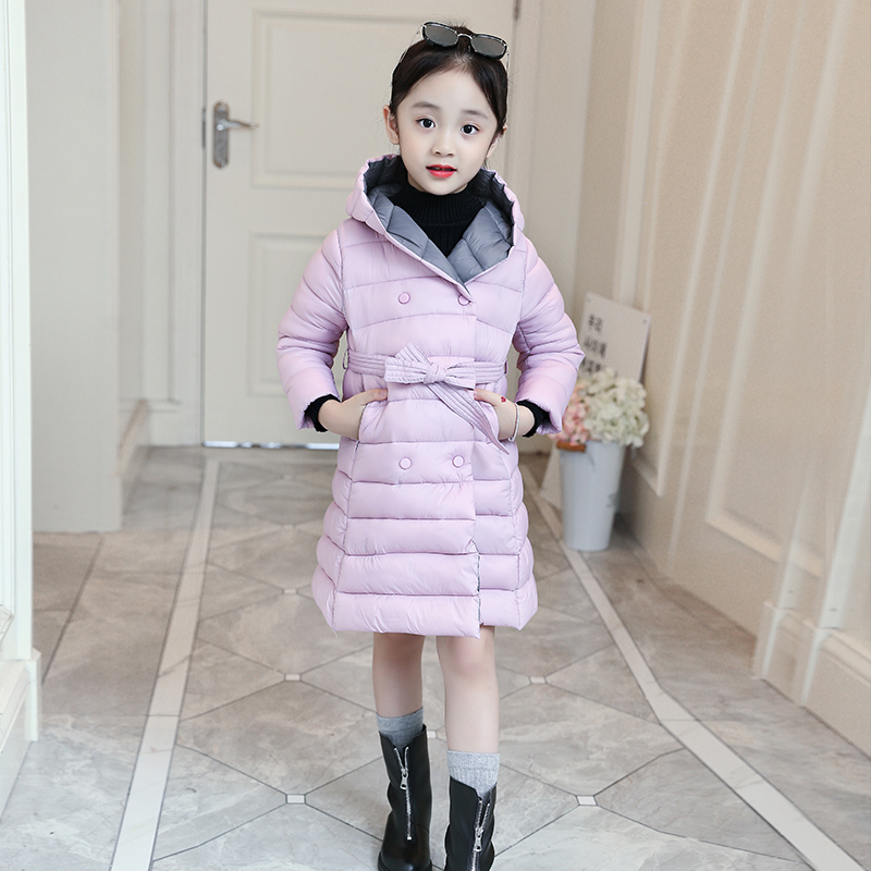 Winter Children Jackets For Girls Coat Winter Warm Down Jacket Girls Clothing Cotton Hooded Kids Outerwear 4 6 8 10 12 13 Years-in Jackets & Coats from Mother & Kids    3