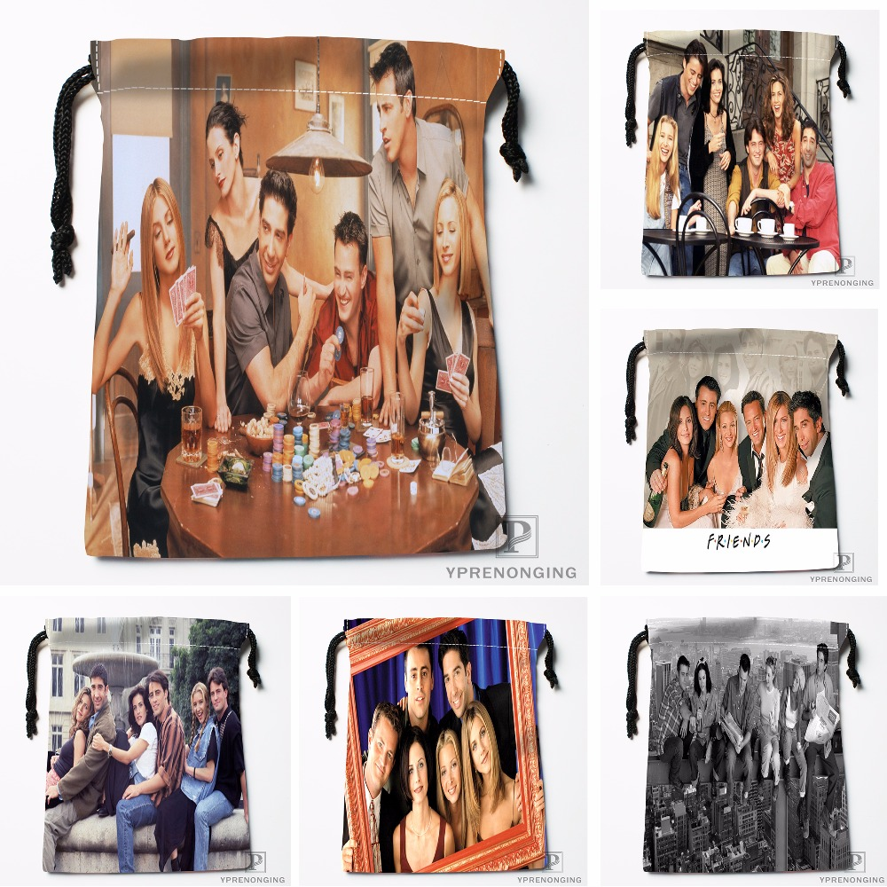Custom Friends Drawstring Bags Printing Travel Storage Mini Pouch Swim Hiking Toy Bag Size 18x22cm#180412-11-77