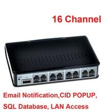 16 CH FTP từ xa màn hình thanh kích hoạt USB Máy ghi âm điện thoại doanh nghiệp SỬ DỤNG điện thoại màn hình, USB điện thoại logger 16CH OK W 10OS