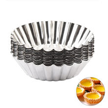 10 шт форма для кекс пудинг десерта торта Оловянная фольга круглая