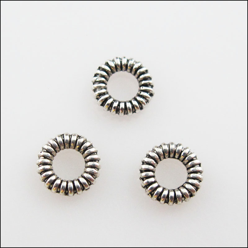 80 New Charms Tibetan Silver Tone Tiny Cone Spacer Beads 5mm