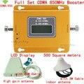 Полный Набор CDMA GSM 850 Мобильный Телефон Сигнал Повторителя CDMA 850 мГц мобильный Сигнал Усилитель 70dB GSM 850 Сотовый Телефон Усилитель Полный Комплект