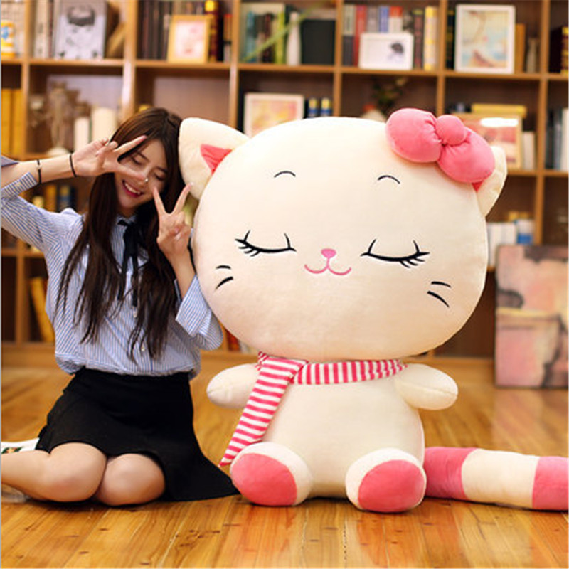 160cm Kawaii Plush Stuffed Toys Stuffed Animals Cat Doll Cat Pillow for Valentines Day Gift Toys for Girls Juguetes Brinquedos cartoon cute doll cat plush stuffed cat toys 19cm birthday gift cat high 7 5 inches children toys plush dolls gift for girl