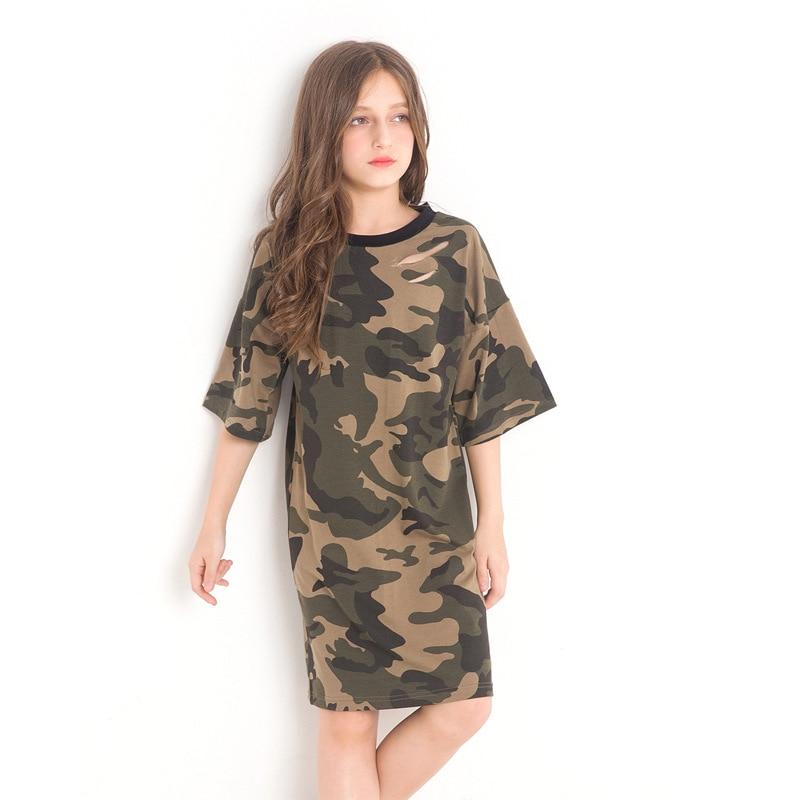 86ca58cba Fashion Teenage Girls Clothing Girls Dress Size 12 14 Camouflage ...