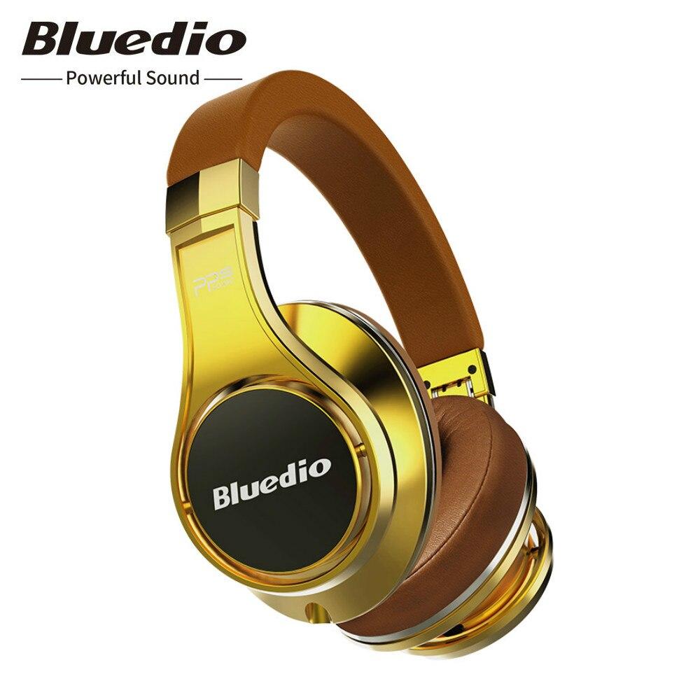 Original Bluedio U UFO sans fil Bluetooth casque 3D Surround haut de gamme authentique breveté 8 pilotes HiFi Sport casque avec micro