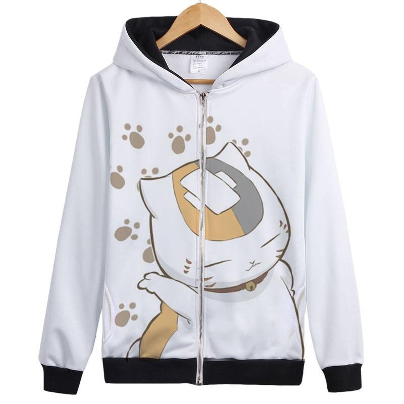 Высокое качество аниме Нацумэ Yuujinchou nyanko сенсей Cat Косплэй костюм унисекс пальто с капюшоном куртка с капюшоном