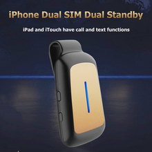 2016 Mini Dual 2 SIM Bluetooth Adapter QUTIGER Morecard GoodTalk APP PHONE Long Standby Battery for IOS7-10 Device