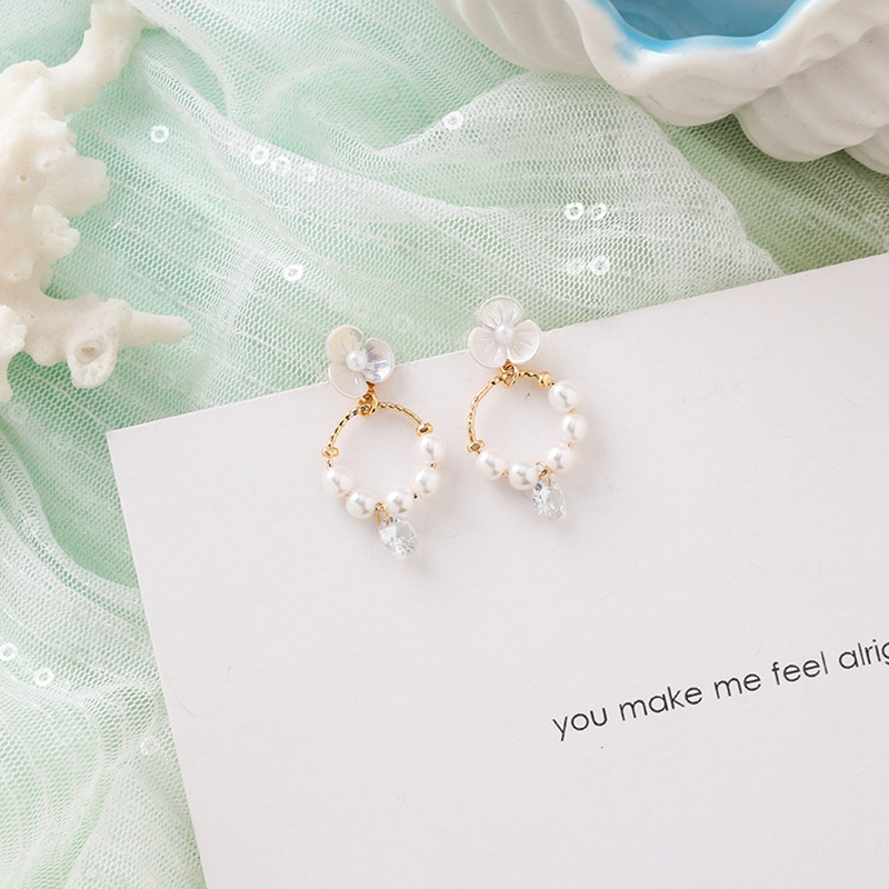 MENGJIQIAO New Korea Japan Elegant Shell Starfish Drop Earrings For Women Sweety Simulated Pearl Pendientes Girl Party Jewelry 14