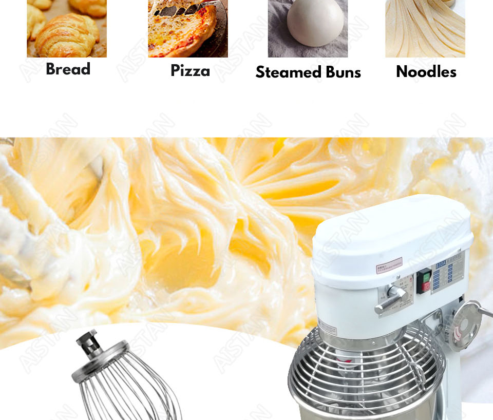 B20A/B30A commercial electric 20L/30L food mixer planetary mixer dough mixer machine for dough kneading/ egg beating/food mixing 7