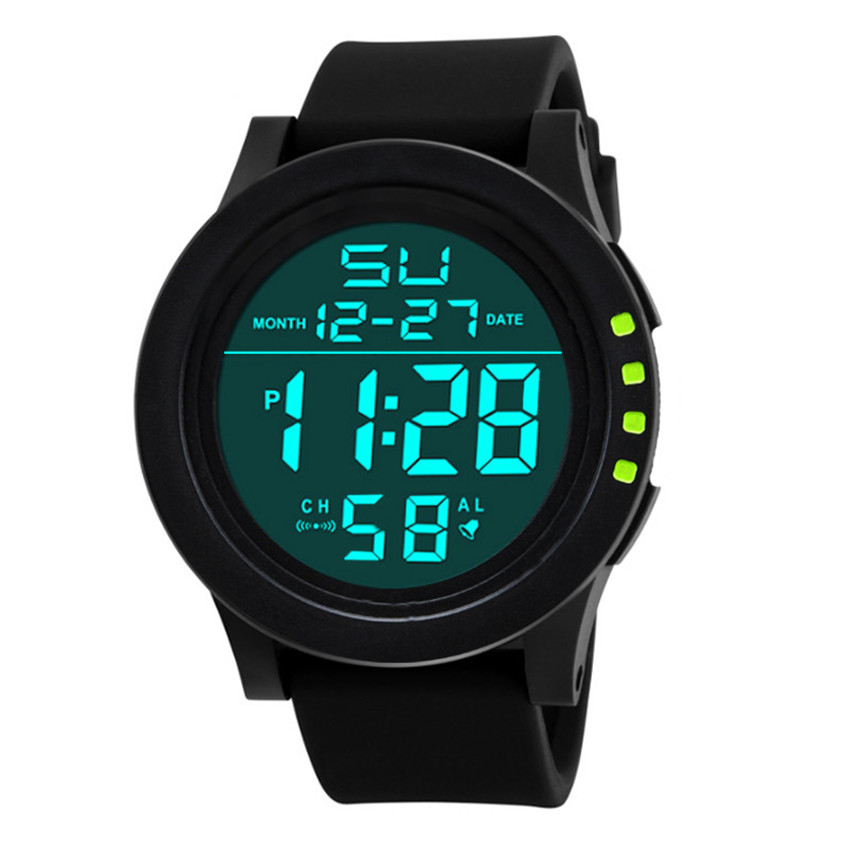 все цены на 2018 Fashion LED Waterproof Digital Quartz Analog Watch Military Sport Men's Wristwatch Chronograph relogio masculino онлайн