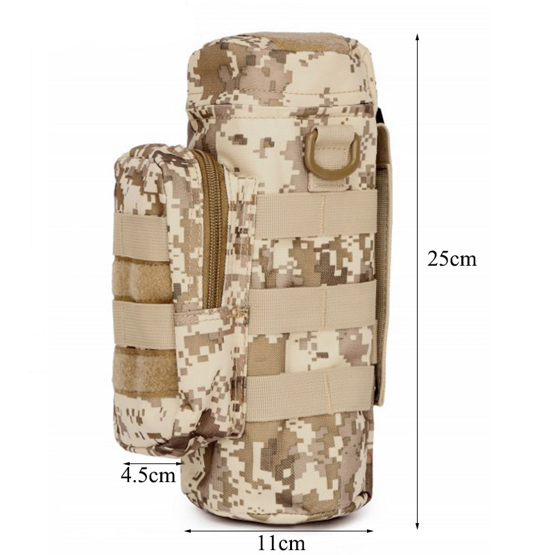 Kettle Storage Bags Organizers,Camping Sports Water Bag Tactical Military System Water Bottle Bag Kettle Pouch Holder