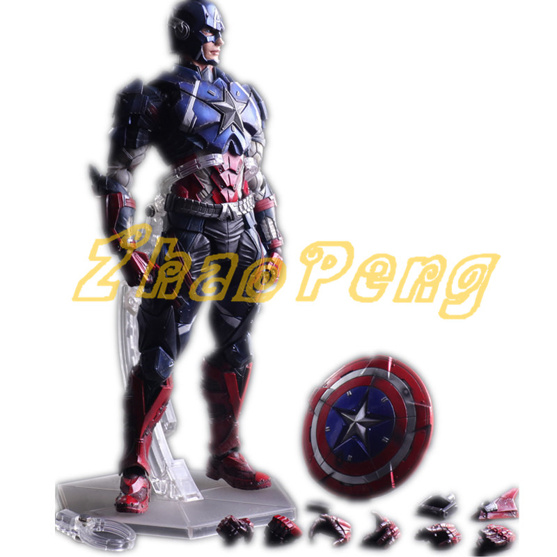 PLAY ARTS Avengers Hero Captain America action figure Collection Decoration model PVC brinquedos kid gift High quality toy 1 6 scale figure captain america civil war or avengers ii scarlet witch 12 action figure doll collectible model plastic toy