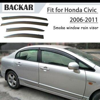 Backar 4pcs Auto Car Windows Rain Wind Sun Shield Deflector Visor Trim For Honda Civic 2006 2007 2008 2009 2010 2011 Accessories