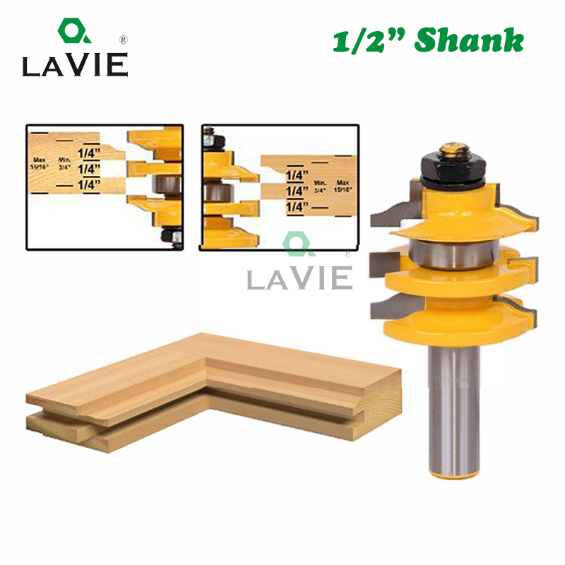 """12 MM 1//2/"""" 4 flute 10 MM Shank Louver Groover Bits"""