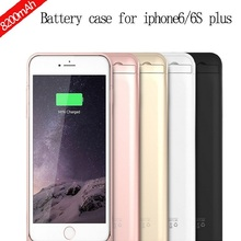 On sale SYR001 8200mAH External Backup Battery Powerbanks Mobile Cover Charger shell for iPhone 6/6s plus 5.5inch Freeshipping
