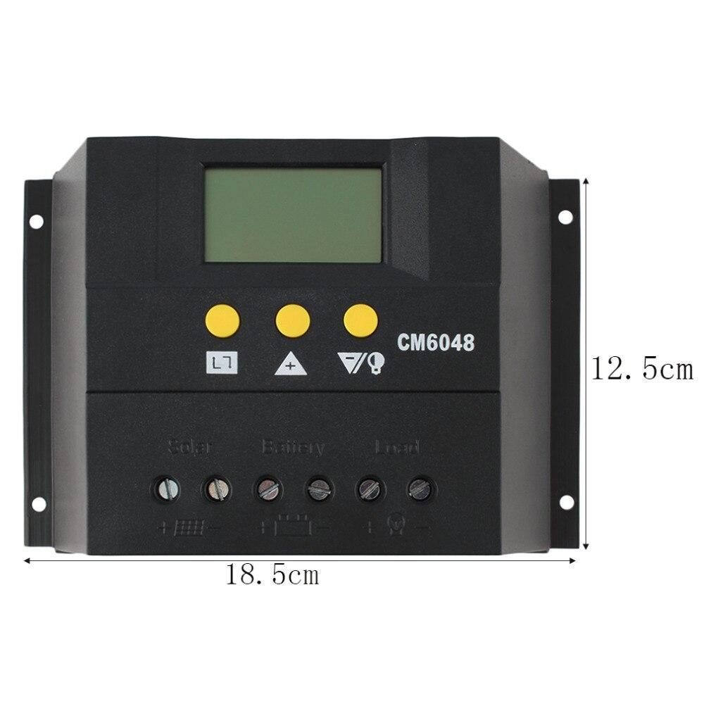 ФОТО 2016 new 60A 12-24V/48V Solar Regulator Solar Charge Controller LCD Solar Genetator